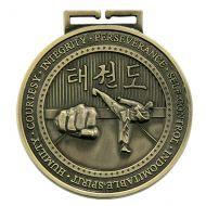 Olympia Taekwondo Medal Antique Gold 70mm