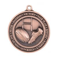 Olympia Rugby Medal Antique Bronze 60mm