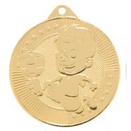 Little Champion Football Trophy Award Medal Gold 45mm