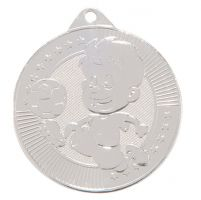 Little Champion Football Trophy Award Medal SIlver 45mm