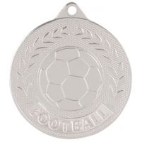 Discovery Football Trophy Award Medal Silver 50mm