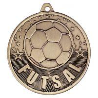 Cascade Futsal Iron Medal Antique Gold 50mm : New 2019