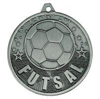 Cascade Futsal Iron Medal Antique Silver 50mm : New 2019