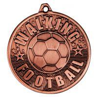 Cascade Walking Football Iron Medal Antique Bronze 50mm : New 2019