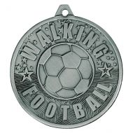 Cascade Walking Football Iron Medal Antique Silver 50mm : New 2019