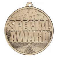 Cascade Special Trophy Award Iron Medal Antique Gold 50mm : New 2019
