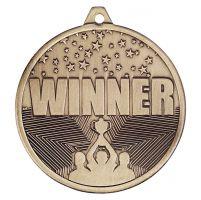Cascade Winner Iron Medal Antique Gold 50mm : New 2019