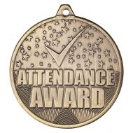 Cascade Attendance Iron Medal Antique Gold 50mm : New 2019