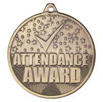 Cascade Attendance Iron Medal Antique Gold 50mm : New 2019