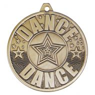 Cascade Dance Iron Medal Antique Gold 50mm : New 2019