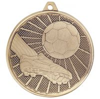 Formation Football Iron Medal Antique Gold 50mm : New 2019