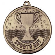 Cascade Sports Day Iron Medal Antique Gold 50mm : New 2019
