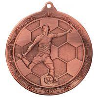 Impulse Football Trophy Award Medal Bronze 50mm