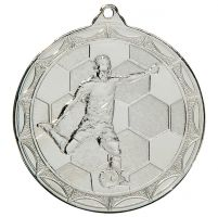 Impulse Football Trophy Award Medal Silver 50mm