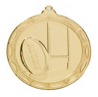 Cascade Rugby Medal Gold 50mm