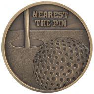 Links Series Nearest The Pin Golf Medal Gold 70mm