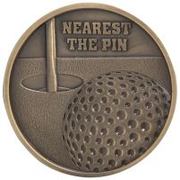 Links Series Nearest The Pin Golf Medal Gold 70mm