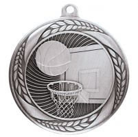 Typhoon Basketball Medal Silver 55mm : New 2020