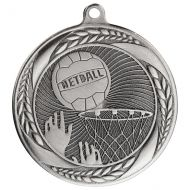 Typhoon Netball Medal Silver 55mm : New 2020