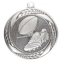 Typhoon Rugby Medal Silver 55mm : New 2020