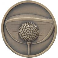 Links Series Golf Driver Medal Gold 70mm