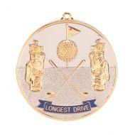 Prestige Longest Drive Golf Medal 70mm