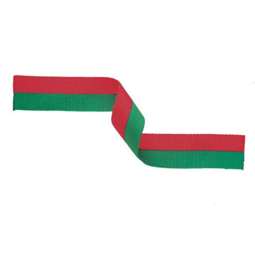 Medal Ribbon Red and Green 395x22mm
