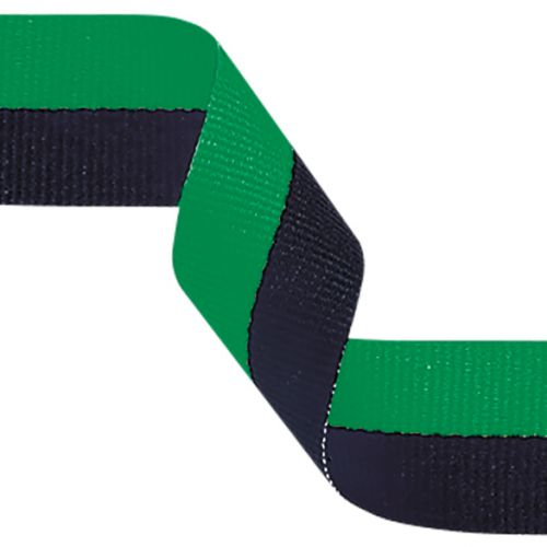 Medal Ribbon Green and Black 395x22mm
