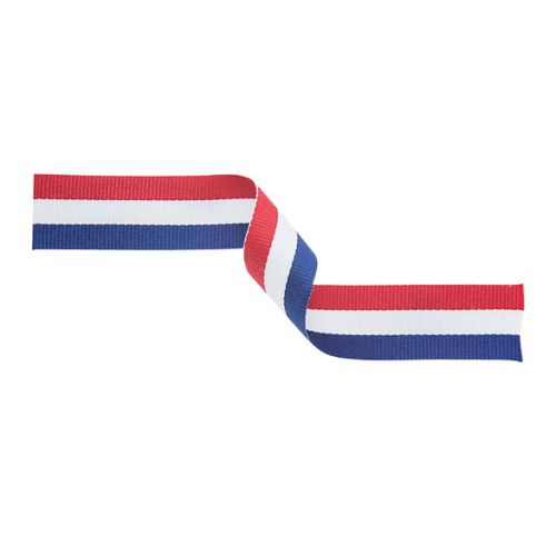 Medal Ribbon Red White and Blue 395x22mm