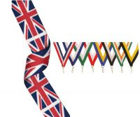 Union Jack Medal Ribbon 395x22mm