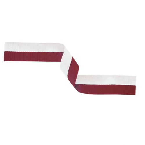 Medal Ribbon Maroon and White 395x22mm