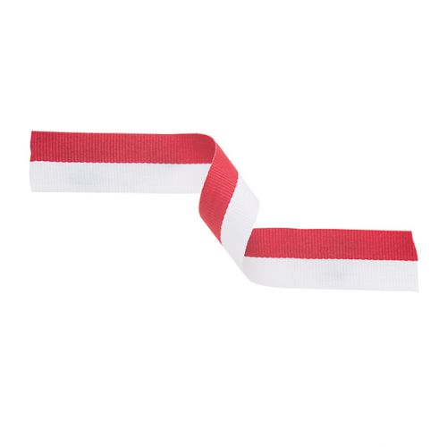 Medal Ribbon Red and White 395x22mm