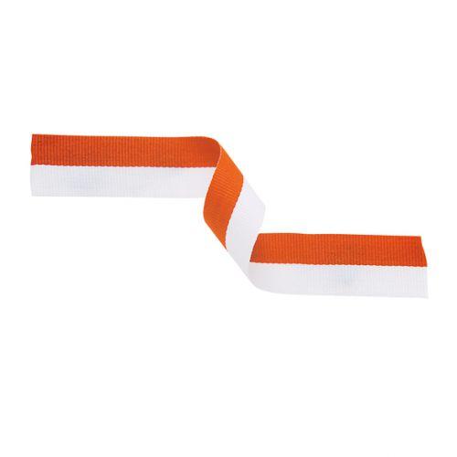 Medal Ribbon Orange and White 395x22mm