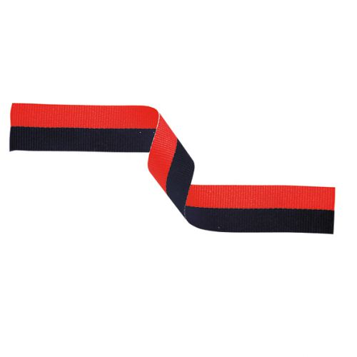 Medal Ribbon Black and Red 395x22mm