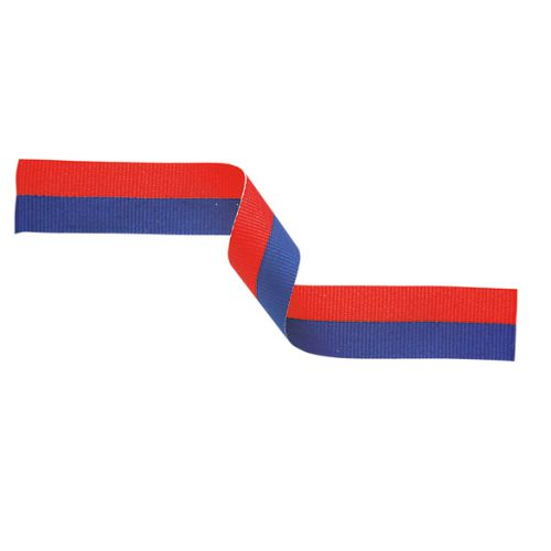 Medal Ribbon Blue and Red 395x22mm