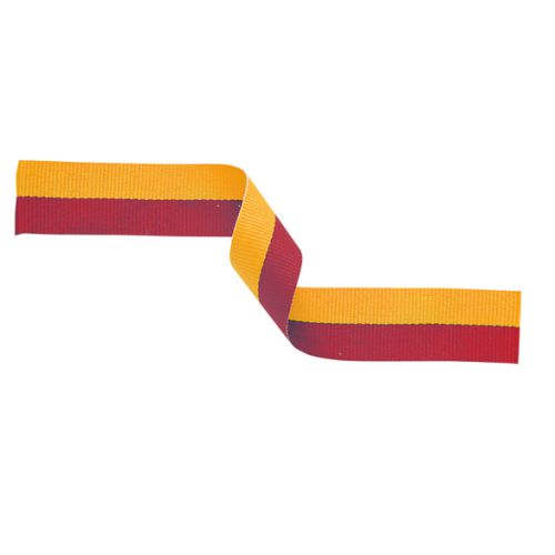 Medal Ribbon Red and Gold 395x22mm