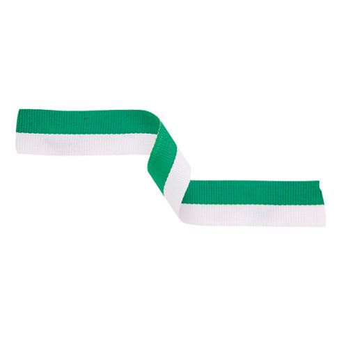 Medal Ribbon Green and White 395x22mm