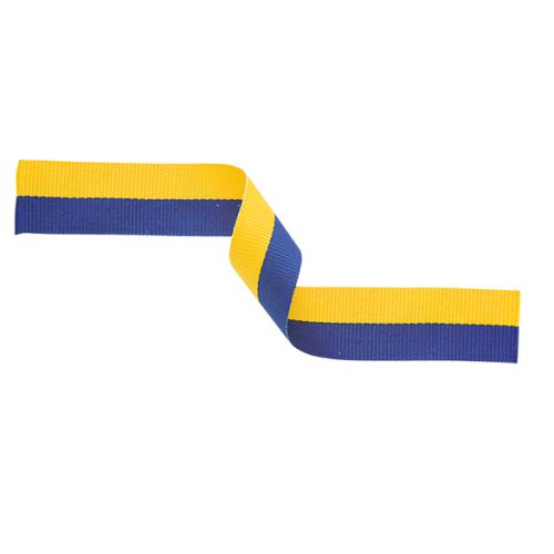 Medal Ribbon Yellow and Blue 395x22mm