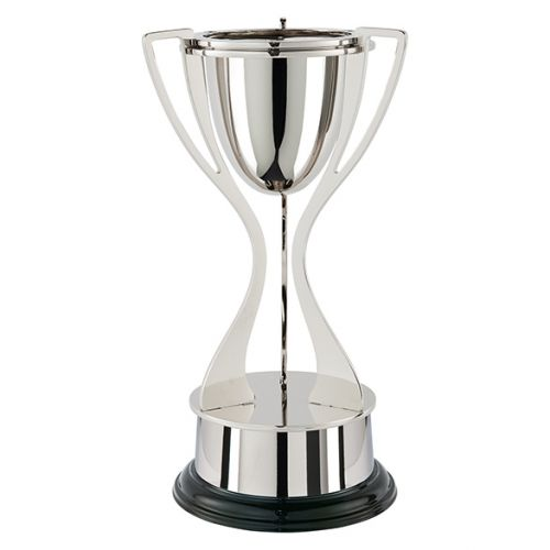 Alnwick Tri Handle Nickel Plated Presentation Cup 365mm : New 2019