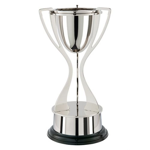 Alnwick Tri Handle Nickel Plated Presentation Cup 390mm : New 2019