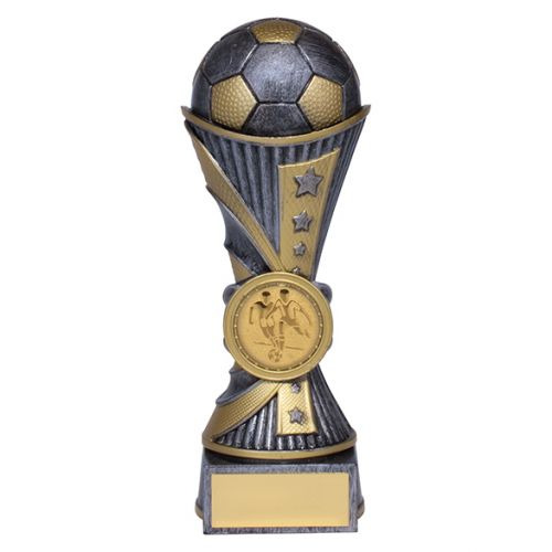 All Stars Football Heavyweight Trophy Award Antique Silver and Gold 150mm : New 2019