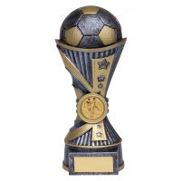 All Stars Football Heavyweight Trophy Award Antique Silver and Gold 180mm : New 2019