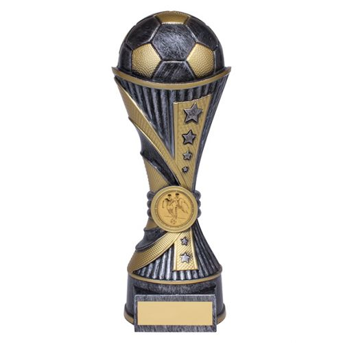 All Stars Football Heavyweight Trophy Award Antique Silver and Gold 220mm : New 2019
