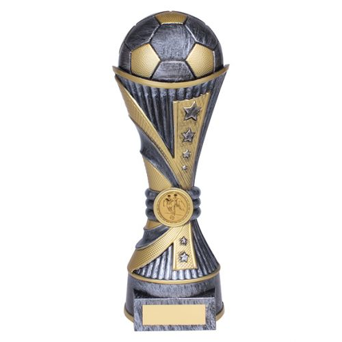 All Stars Football Heavyweight Trophy Award Antique Silver and Gold 250mm : New 2019