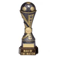All Stars Football Man Of The Match Antique Silver and Gold 260mm : New 2019