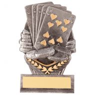Falcon Poker Cards Trophy Award 105mm : New 2020