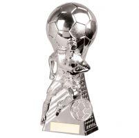 Trailblazer Football Heavyweight Trophy Award Silver 160mm : New 2020