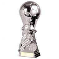 Trailblazer Football Heavyweight Trophy Award Silver 190mm : New 2020