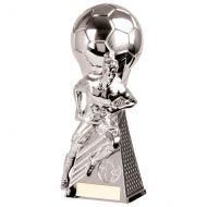 Trailblazer Football Heavyweight Trophy Award Silver 230mm : New 2020