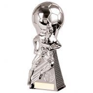Trailblazer Football Heavyweight Trophy Award Silver 265mm : New 2020